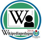 Badge för Wikipediapedagog 2014