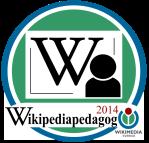 Badge för Wikipediapedagog 2014