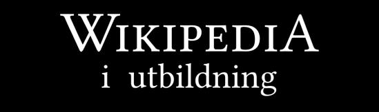 Wikipedia i utbildning