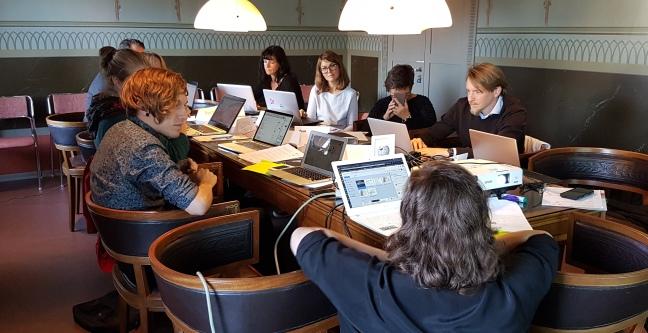 Första tillfället i höstens Wikipediautbildning för bibliotekspersonal gick av stapeln på Stadsbiblioteket den 28 september.